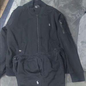 Black Polo Ralph Lauren Jogger Suit